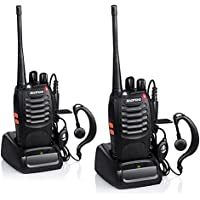 Baofeng BF-888S Rechargeable 3 Miles (5 km) Long Range 5W Two Way Radio Walkie Talkies 16 Channel Handheld Radio Built in LED Torch Microphone With Earpiece(Pack of 2) 2 Pack