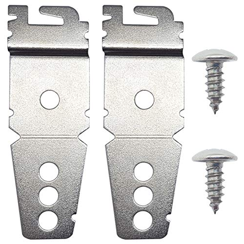 8269145 2-Pack Undercounter Dishwasher Mounting Bracket Replacement with Screws for Whirlpool, Compatible for Sears, Kenmore, Amana, Jenn-Air, Crosley, Maytag, Roper, Kitchenaid and Magic Chef