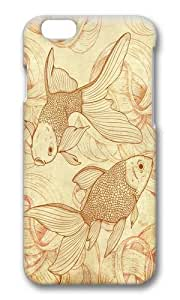 Zheng caseApple Iphone 6 Case,WENJORS Awesome Vintage Goldfishes Hard Case Protective Shell Cell Phone Cover For Apple Iphone 6 (4.7 Inch) - PC 3D