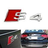 Red S4 Logo Sport Chrome Badge Emblem For Audi S S4 S5 S6 S8 A4 A6 A8 TT R8 Quattro