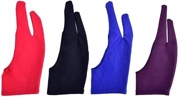 任意のグラフィックス描画用手袋、描画用タブレットコンピューター用手袋、2本指防汚塗装用手袋、左手用および右手用手袋M