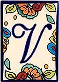 Hacienda Talavera Ceramic House Letter V