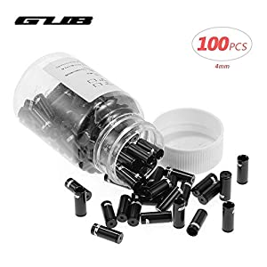 Lixada 100pcs 4mm/5mm Aluminum Alloy Bike Derailleur Shift Brake Wire Cable End Cap Shifter Cable Housing Ferrules Tupe Tops Replacement Set