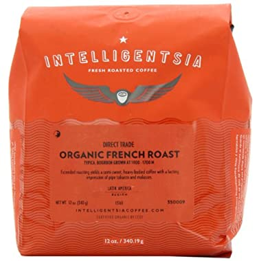 Intelligentsia Organic French Roast, Whole Bean Coffee, 12-Ounce