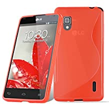 Cadorabo – Silicone Case S-LINE SLIM-FLEX for LG OPTIMUS G (E973) – Etui Cover Protection Bumper Skin in CANDY-APPLE-RED