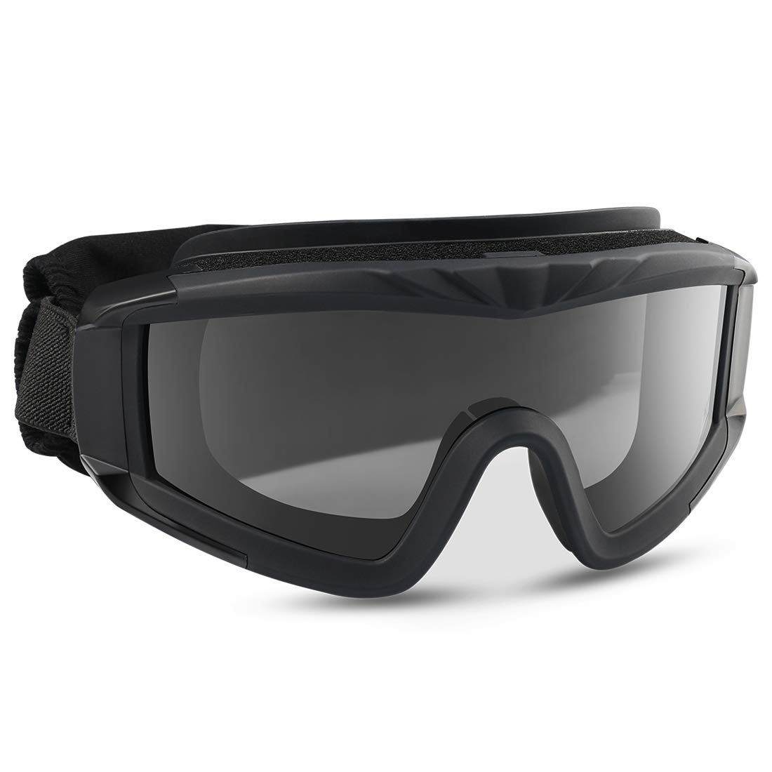 XAegis Airsoft Goggles, Tactical Safety Goggles Anti Fog Military Eyewear with 3 Interchangable Lens for Paintball Riding Shooting Hunting Cycling - Black by XAegis