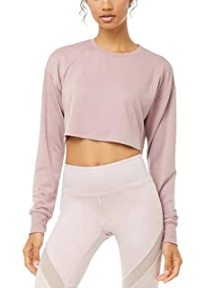 26f8b83b3b Bestisun Women Basic Long Sleeve Workout Sports Crop Top Cute Athletic Yoga  Shirts with Thumb Holes