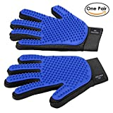 Nordic Ideal One Pair of Premium Pet Grooming Glove - Efficient and Gentle Pet Brush and Massage Tool. Enhanced Five Finger Design for Efficient Removal of Hair - Perfect for Cats, Dogs & Horses for $8.99.