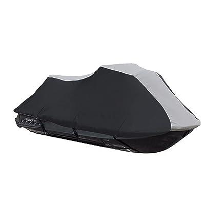 600 Denier Jet Ski PWC Cover fits Yamaha Wave Runner XL 1200 1998 1999 00 Black / Grey
