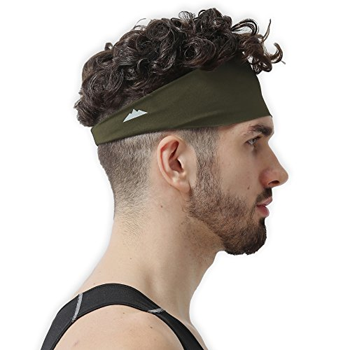 Mens Headband - Guys Sweatband & Sports Headband for Running, Working Out, Cross Training and Dominating Your Competition - Ultimate Performance Wicking & ()