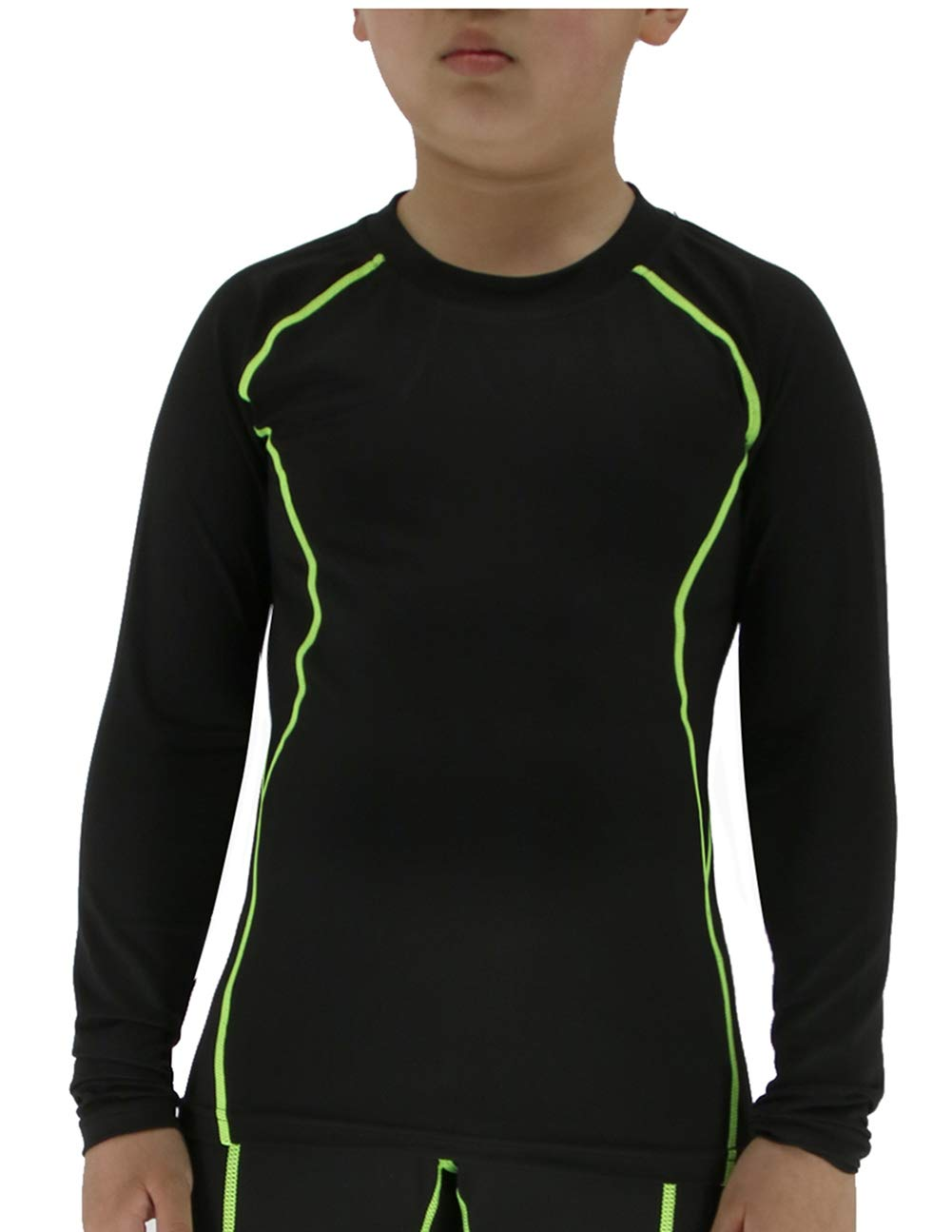 LANBAOSI Boys& Girls Long Sleeve Compression Soccer Practice Shirts SL299-T