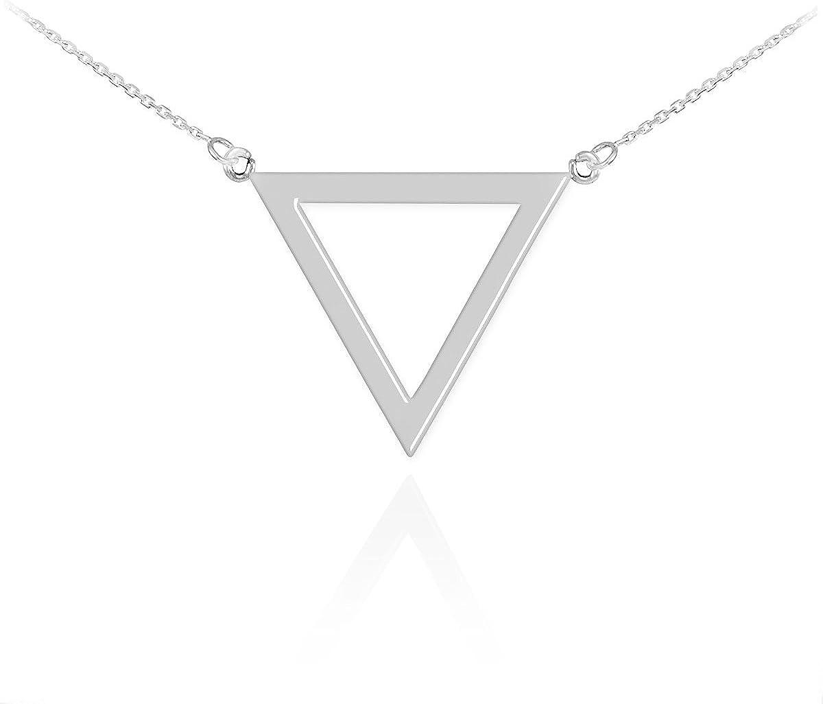 Delicate Hollowed Triangle Necklace Little Mini Gold Color//Silver Color Triangle