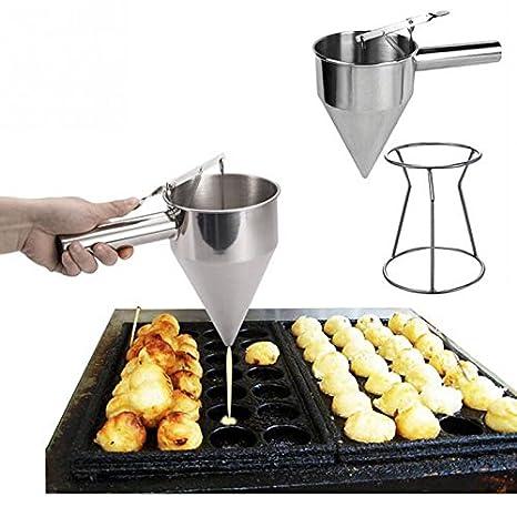 Compra Dispensador con soporte embudo para miel sirope salsas caramelo masa de hornear de OPEN BUY en Amazon.es