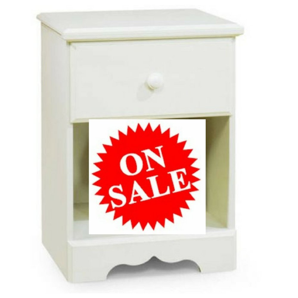 Kid's Nightstand with Drawer Small Country Style White Wooden Nightstand for Children of All Ages eBook by Easy&FunDeals