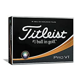 Titleist Pro V1 Golf Balls, White, Low Numbers 1-4 (One Dozen)