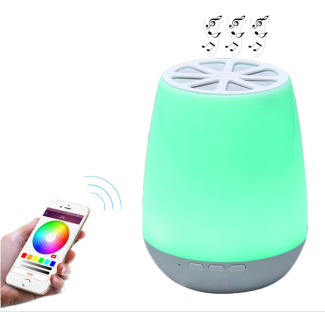 Baby Rest Night Light Portable Sound Machine Color Changing Plays Nature Sounds Spa for Baby Wake Up Clock for Kids
