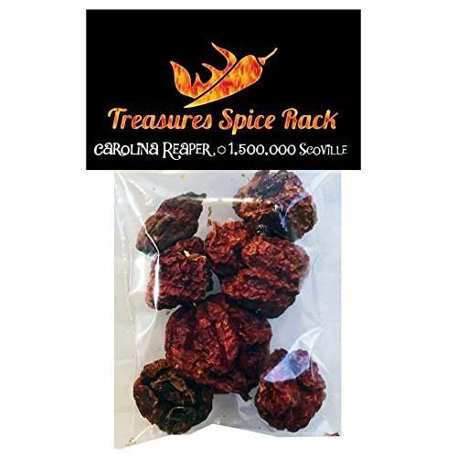 Carolina Reaper Pepper Pods Dried Hottest Pepper (Kick It Up Sauce compare prices)