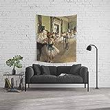 Society6 Wall Tapestry, Size Medium: 68'' x 80'', The Dance Lesson - Edgar Degas by endoferadesigns
