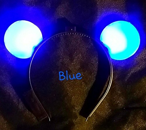 Light Up Flashing Mouse Ears - A Much Better Deal Than The Mickey Mouse Ears Sold at Disney World! B U Y 1, G E T 1 F R E E !!! ... (Blue)