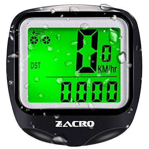 Zacro Bike Computer, Wireless Bicycle Speedometer with Backlight, Multi Function
