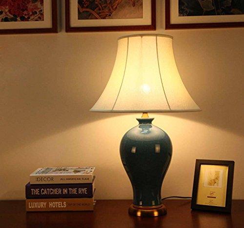 Keramik-Lampe Schlafzimmer Lampe Wohnzimmer Studie modernen chinesischen dekorative Leuchten borneol knacken hochwertigen Glasur