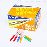 100 PCS Colorful Seam Ripper and Thread Remover, Premium Seam Ripper Tool Tools for Sewing and Crafting with Plastic Handle and Cover,Assorted Colors Pefect Supplies