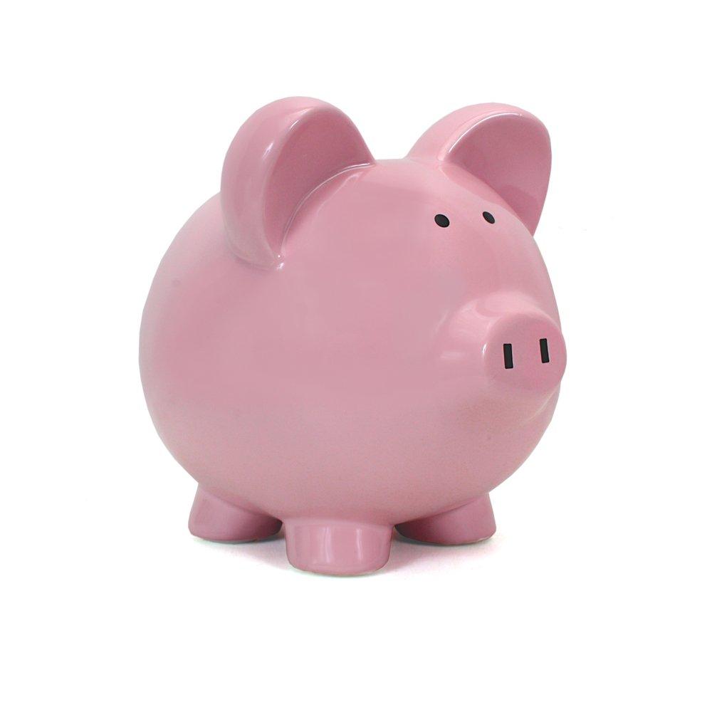 Child to Cherish Big Ear Piggy Bank, White 3808WT