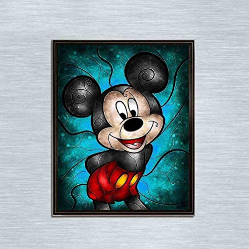 13.8x9.8inch//35x25cm Leezeshaw 5D DIY Diamond Painting By Number Kits Fameless Rhinestone Embroidery Paintings Pictures For Home Decor Tangled