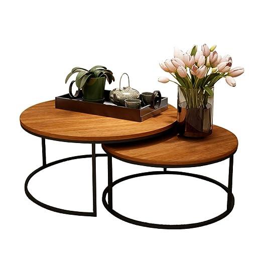 Juego de Mesa de café Redonda Mesa Auxiliar de diseño Moderno ...