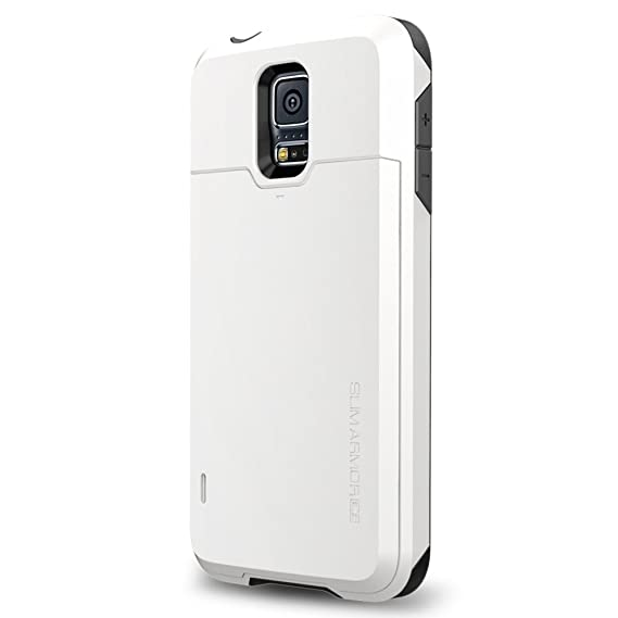 lowest price 8ad99 57fe9 Amazon.com: Spigen Slim Armor CS Galaxy S5 Case with Slim Dual Layer ...