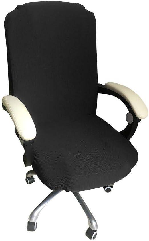 Lembeauty - Funda para silla de oficina, color sólido, elástica ...