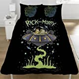 Rick And Morty Official UFO Space Ship Reversible Duvet (Double) (Multicoloured)