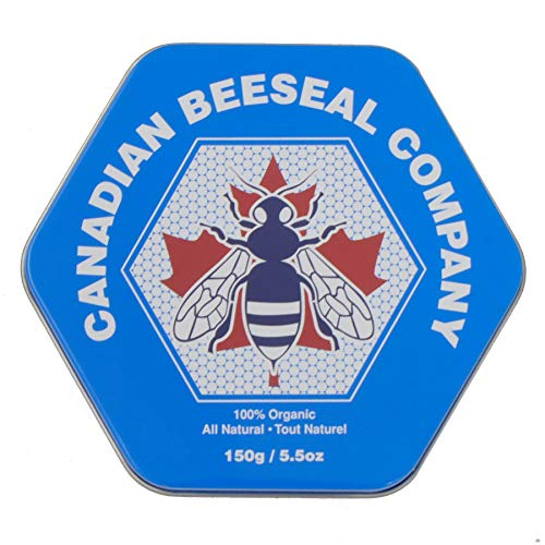 Canadian BEESEAL COMPANY | 100% Organic Beeswax Leather Conditioner | Made in Canada | 150g/5.5oz