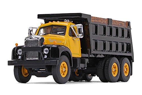 B Model Mack Trucks - First Gear 1/64 Scale Yellow/Black Mack B-61 Dump Truck (60-0403)