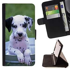 Momo Phone Case / Flip Funda de Cuero Case Cover - Perrito dálmata Perro Negro Blanco; - Sony Xperia Style T3