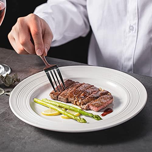HansGo Dinner Forks, 8PCS Good Table Forks Top Food Grade Stainless Steel Silverware Forks Flatware Forks Use for Home Kitchen Hotel Restaurant
