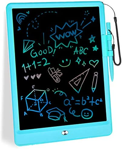 mloong LCD Writing Tablet,10 Inch Doodle Board Kids Tablets Drawing Tablet Electronic Digital Drawing Board for Adults and Kids Ages 3+ (Blue