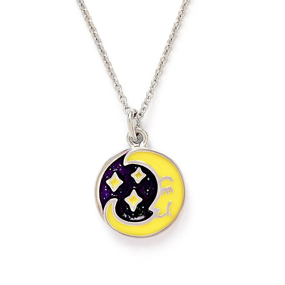 Chrysalis Wishes Collection Moon Star Pendant Necklace CRNC0009SP
