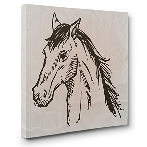 Horse Sketch CANVAS Wall Art Home Décor by Paper Blast