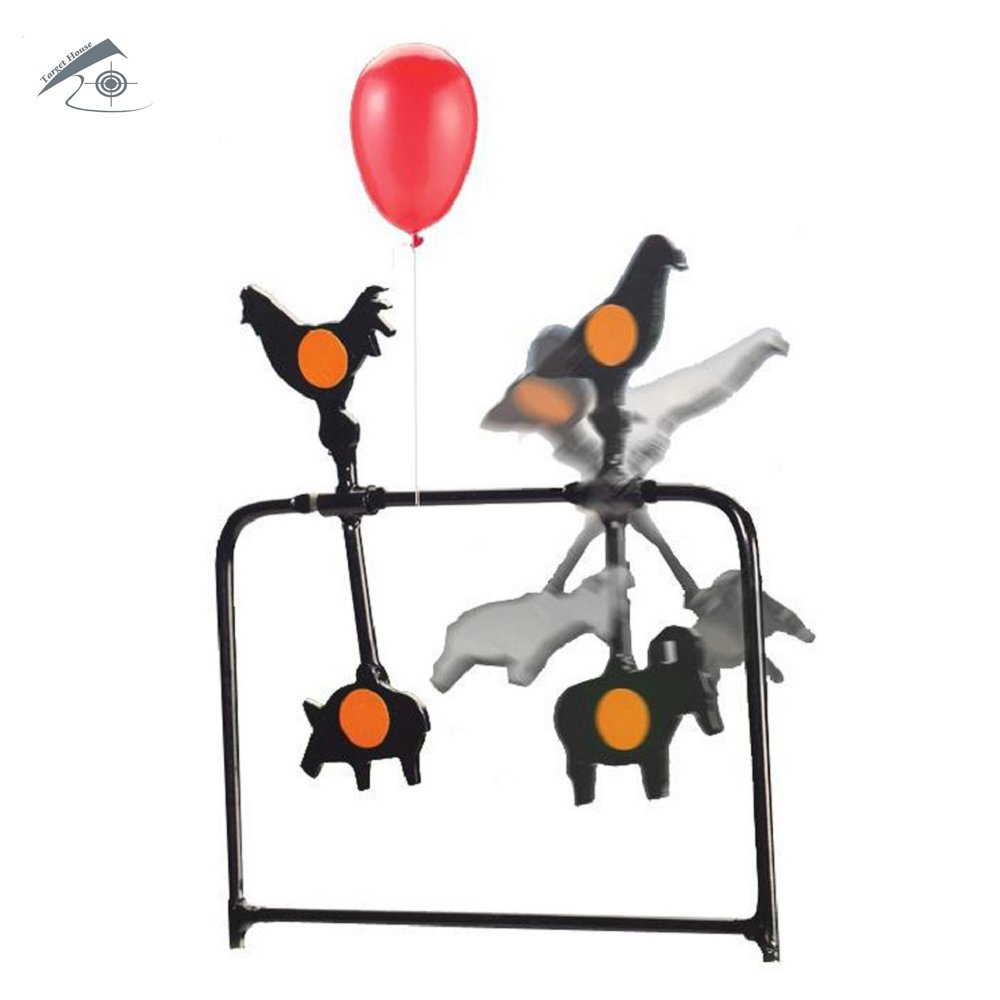 TARGET HOUSE Metalico Spinner objetivo rifle de aire objetivo animales spinner objetivo auto reinicio objetivo