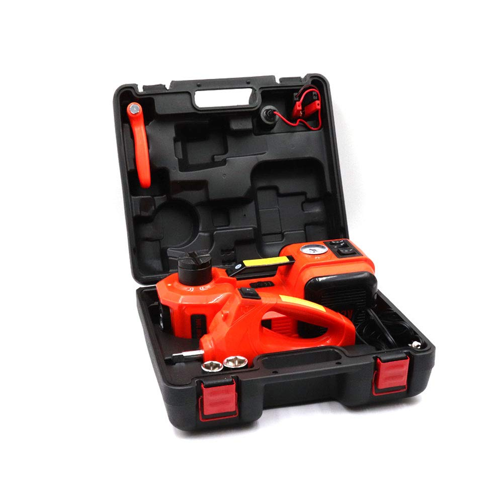 DZANKEN DC 5T (11000 lbs) Car Floor Jack All-in-One Electric Hydraulic Floor Jack-Tire Lift Kit WithTire Inflator Pump and Electric Impact Wrench