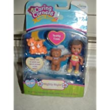 Caring Corners Baby Buds Girl with Teddy Bear & Cats ~Nighty Night Figures