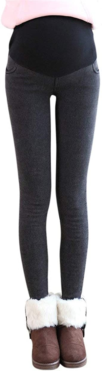 Pantalon Grossesse Cuir Leggings Grossesse et Maternit/é Elastique Pantalon Taille Haute Skinny Stretch Leggings Pantalon
