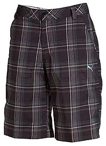 PUMA Golf Plaid TECH Short Junior-Black -S -56066304