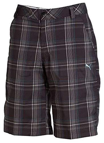 Puma Golf plaid tach Short Junior, Black, 140