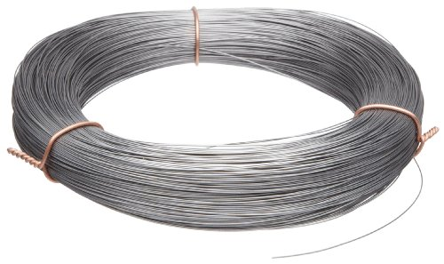 High Carbon Steel Wire, Mill Finish #2B (Smooth) Finish, Grade #2B Smooth, Full Hard Temper, Meets ASTM A228 Specifications, 0.014″ Diameter, 1911′ Length, Precision