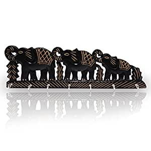 Amazon.com: De madera titular de la clave Triple diseño en ...