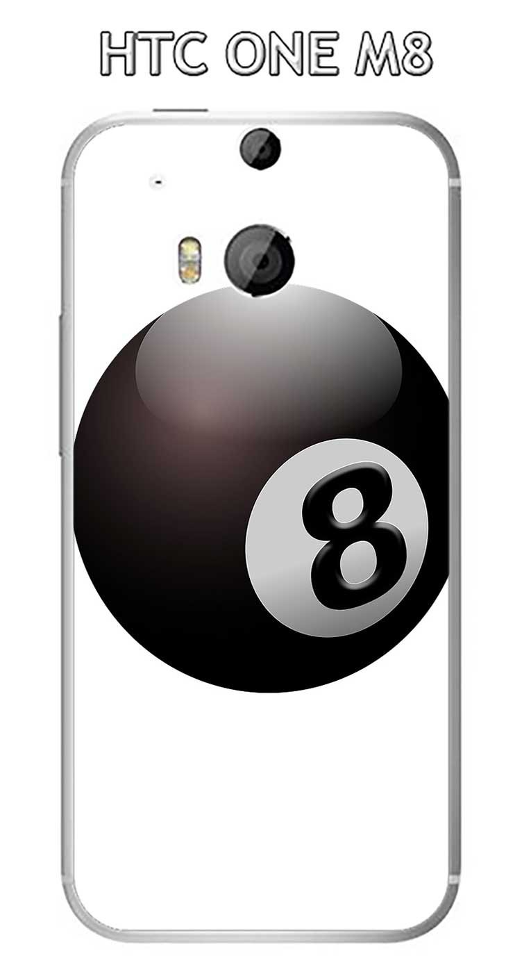 Onozo Carcasa HTC One M8 diseño Bola de Billar N ° 8 Puerta ...