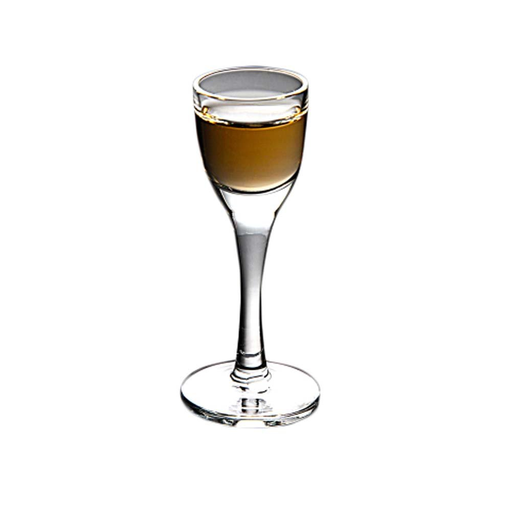6 Pieces Creative Mini Goblet Spirits White Wine Glass European-style Thick-bottom Cup #12