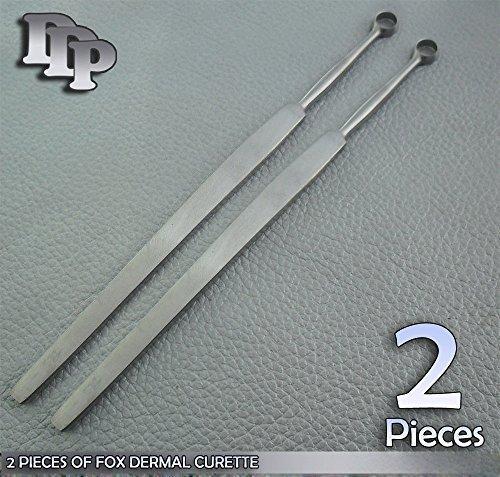 2 Fox Dermal Curettes 4mm+6mm DDP Instruments by DDP